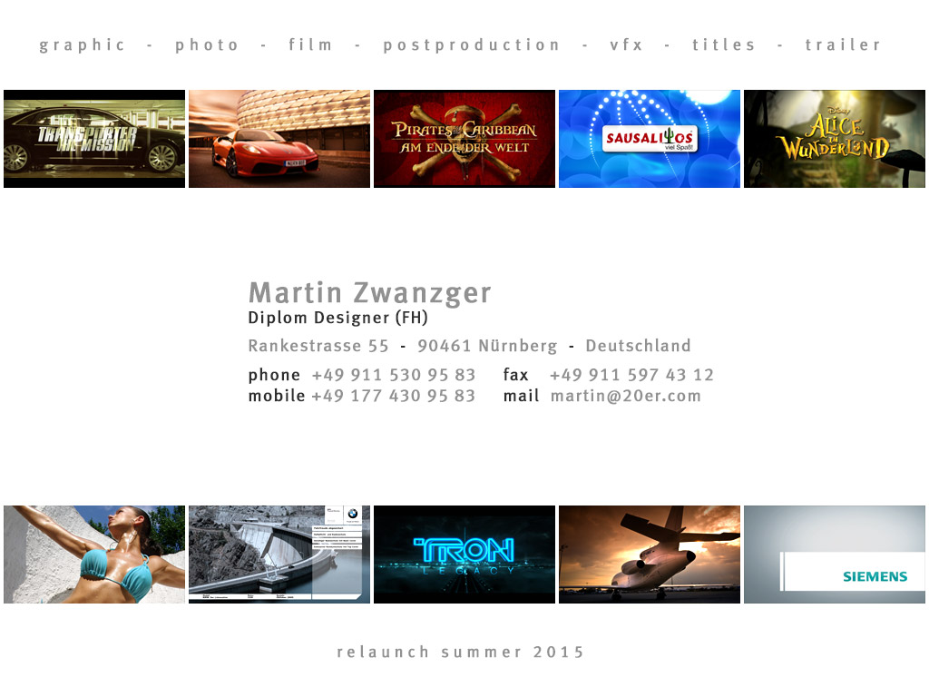 20er film-design - graphic - video - film - postproduction